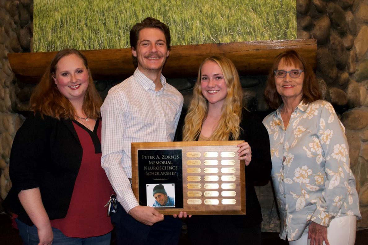 Pictured from left to right, Joy Zornes, Jacob Foster, Olivia Willis, and Kathy Zornes.